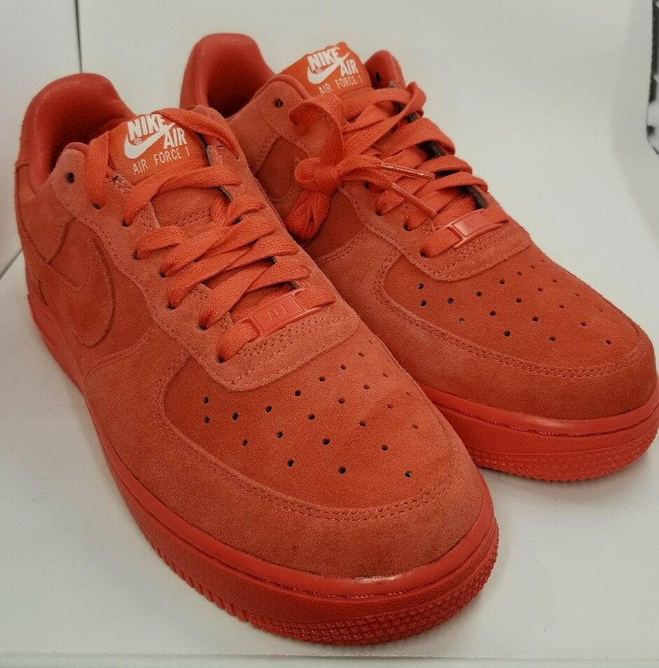 NIKE AIR FORCE 1 ID SIZE 6 808791-983 Red suede leather inner 808791-983 6 5c02f8