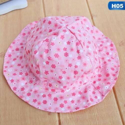 Bucket Hat Bonnet Sun Hat Beach Newborn Toddler Baby Girl Summer Hat Peaked Cap~