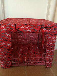 Made-To-Measure-Dog-Crate-cage-Couvre-taille-L-Divers-Designs