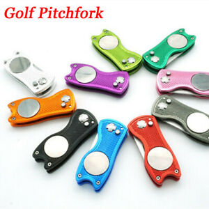 Steel-Golf-Pitchfork-Pitch-Groove-Cleaner-Putting-Green-Fork-Divot-Repair-Tool