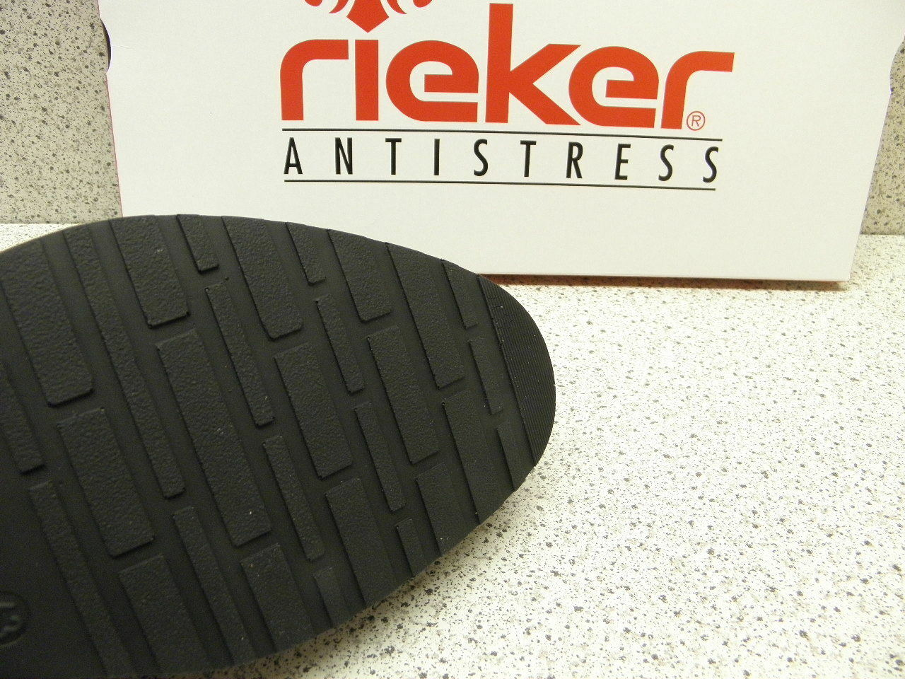 Rieker ® + Sale Top Preis schwarz weit + ® gratis Premium - Socken  (R424) b1d2f2