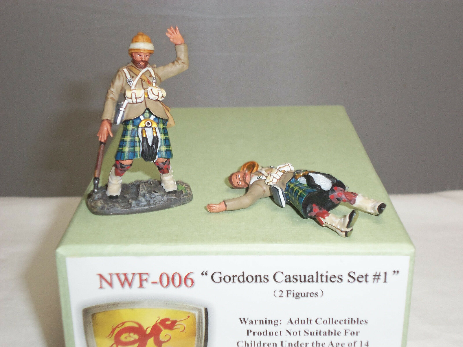 CONTE NWF006 NORTH WEST FRONTIER GORDON HIGHLANDERS CASUALTIES TOY SOLDIER SET