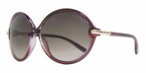 Tom Ford RITA Sunglasses Cherry Burgundy Frame Violet Lens FT225 71Z 63-14 130