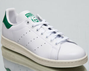 Adidas-Originals-Stan-Smith-Homme-Neuf-Blanc-Vert-Lifestyle-Baskets-BD7432
