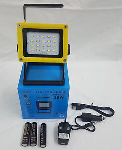 Rechargeable portable outdoor 30w led floodlight garden security image is loading rechargeable portable outdoor 30w led floodlight garden security aloadofball Image collections