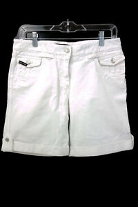 DOLCE & GABBANA D&G CASUAL WHITE SHORTS 100% Cotton SZ 6 Italy 42 MADE IN ITALY