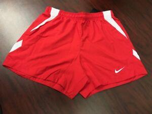 96c5d0776a3e Nike Women s Dri-Fit Mystifi Shorts Scarlet Red White 100% Polyester ...