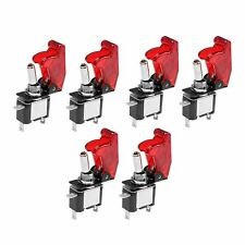 6pcs 20a Atv 12v Racing Red Cover Led Toggle Switch Spst Onoff Universal New