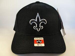 New-Orleans-Saints-NFL-Vintage-American-Needle-Size-6-7-8-Fitted-Hat-Cap-Black