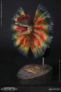 DAM-MUS002C-PALEONTOLOGY-WORLD-DILOPHOSAURUS-BUST-PAINTED-Dinosaur-Museum-STATUE