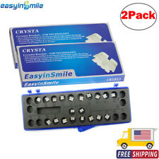 2pack Easyinsmile Ceramic Brackets Orthodontic Dental Tooth Braces Rothmbt Hook