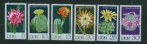 ALEMANIA-RDA-GERMANY-EAST-WEST-GDR-1970-MNH-SC-1251-1256-Cactus