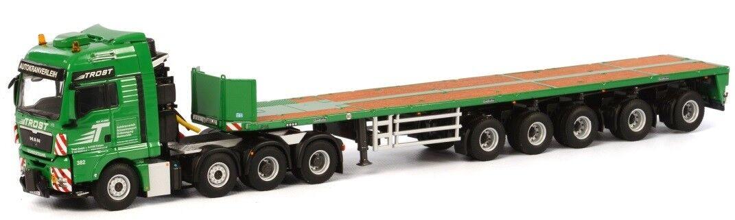 WSI01-1675 - Camion 8x4 MAN TGX XXL et remorque remorque remorque plateau 5 essieux aux couleurs T 2ff8e6