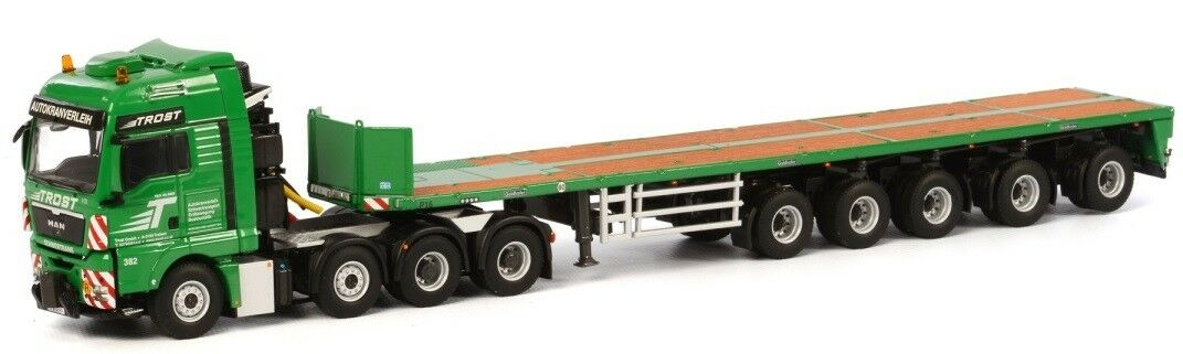 tiempo libre WSI01-1675 WSI01-1675 WSI01-1675 - Camion 8x4 MAN TGX XXL et remorque plateau 5 essieux aux Colors T  con 60% de descuento
