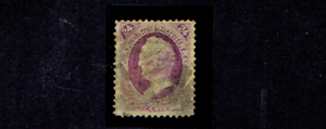 1870-1-U-S-CLASSIC-24c-Purple-General-Scott-No-Grill-Sc-153-Used-VERY-SCARCE