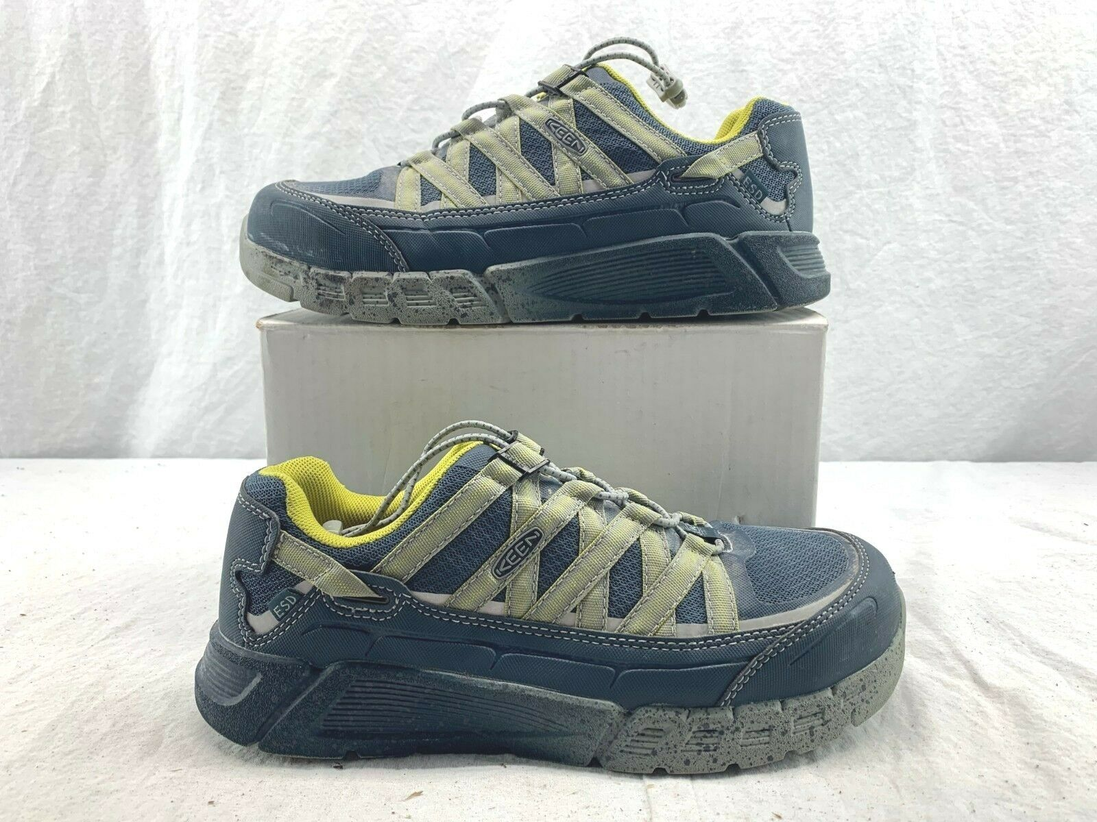 Para Hombre KEEN 1017072 utilidad azul marino noche caliente ol Asheville en ESD Zapatos 9.5 D