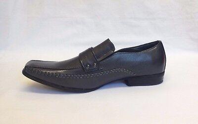 Para hombres estilo italiano Inteligente Trabajo Formal Boda Gris Resbalón en Zapatos UK Tamaños 5-10