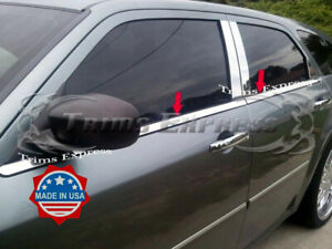 fits-2005-2009-Dodge-Magnum-4Pc-Window-Sill-Trim-Accent-Stainless-Steel