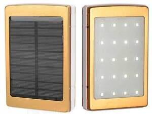 20000mAh Solar Power Bank Mobile Charger & LED Flashlight For All Mobile iPhones