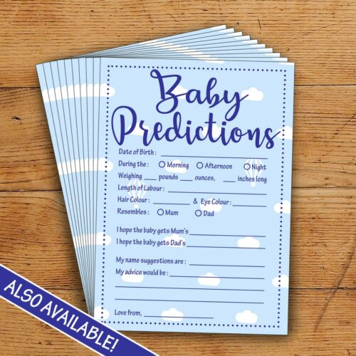 Perfect Party Game! Baby Shower Bingo Blue//Boy 20 Players