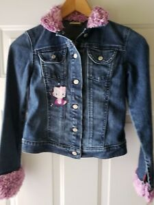 78e913774 7 For All Mankind Hello Kitty Button Down Denim Jean Jacket Size M ...