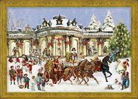 Richard Sellmer Verlag - Traditional German Paper Advent Calendar - Santa Sleigh