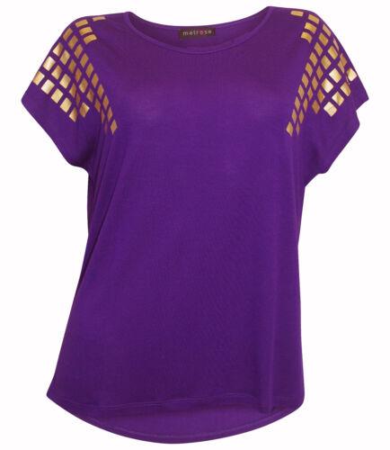 Chemise longue Melrose taille 36 violet or pression Shirt Shirt Arrière Plus Long NEUF