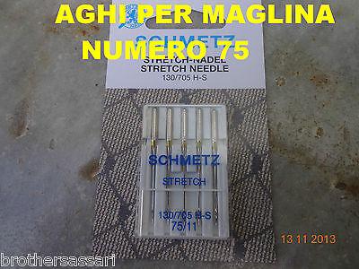 AGHI CUCIRE SCHMETZ MAGLINA NR.75-5 PEZZI  - MACCHINE MACCHINA DA PER CUCIRE