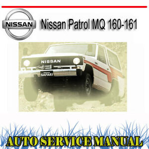nissan patrol mq 160 61 service repair manual dvd ebay rh ebay com au Nissan Xterra nissan patrol 160-61 mq series service manual