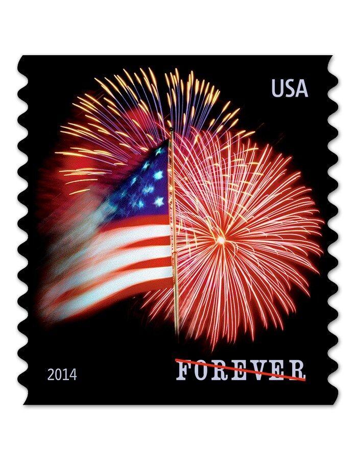 2014 49c Star-Spangled Banner, Fireworks, Coil Scott 48