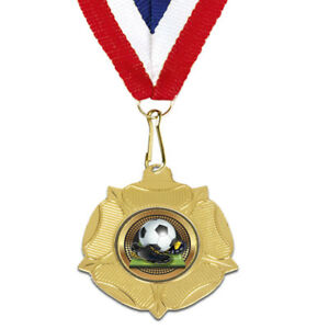 Details about *Football 50mm x 10 MEDALS, Wide Ribbons not cheap thin ones  FREE ENGRAVING