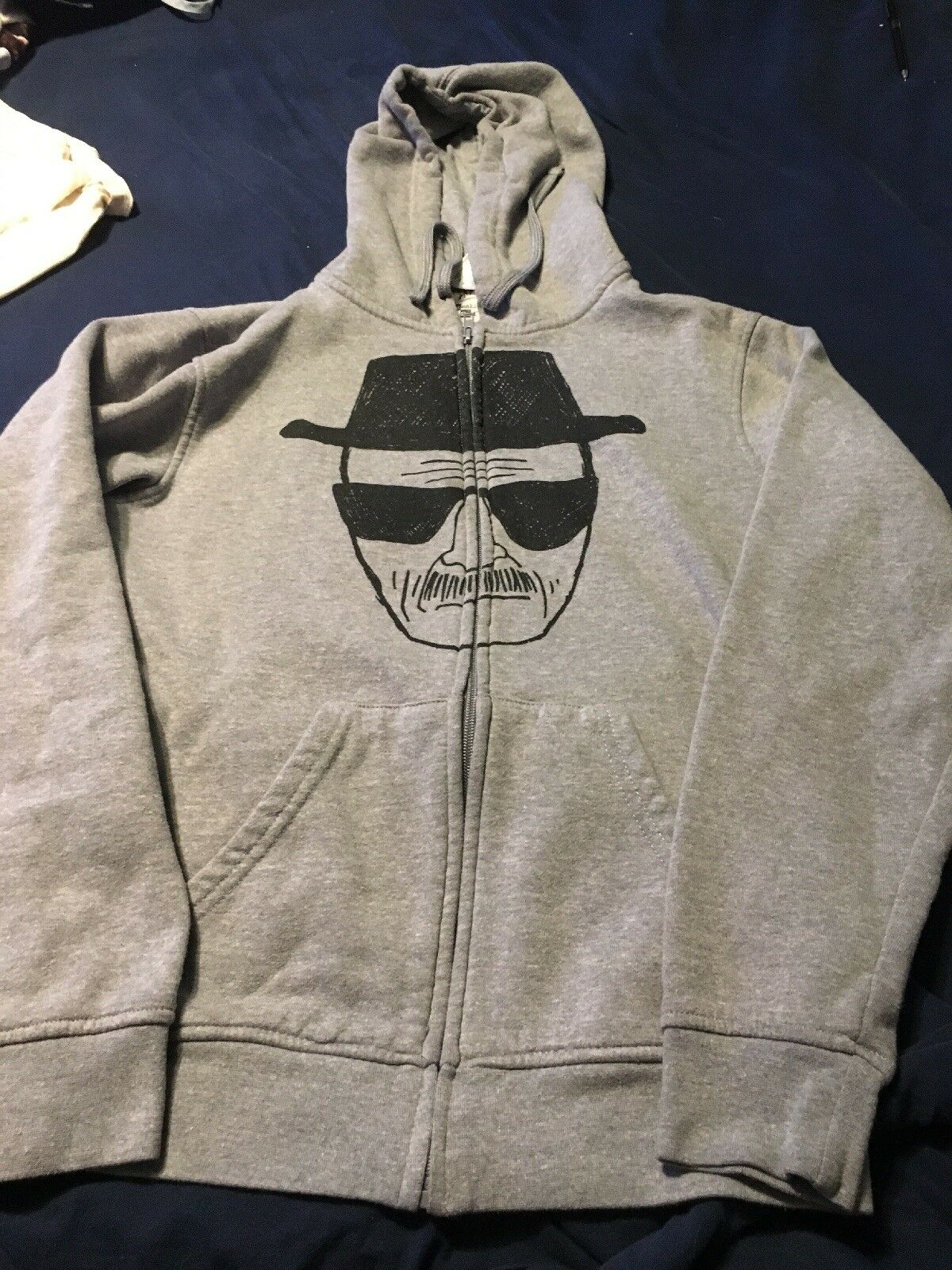 Walter Weiß Heisenberg IML Breaking Bad Hoodie Hooded Zipper sweatshirt S Zip
