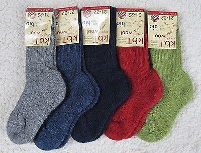 Hirsch Wollsocken bio Schurwolle Kinder Plüschsohlensocke Socken Wolle kbt öko
