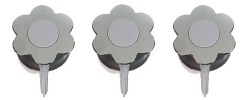 SET 3er Flower-Power Haken Silver Edition