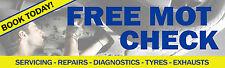 6 PIEDI x 2ft libero MOT Banner controllo Strumenti di diagnostica Vauxhall VOLKSWAGEN CASTROL