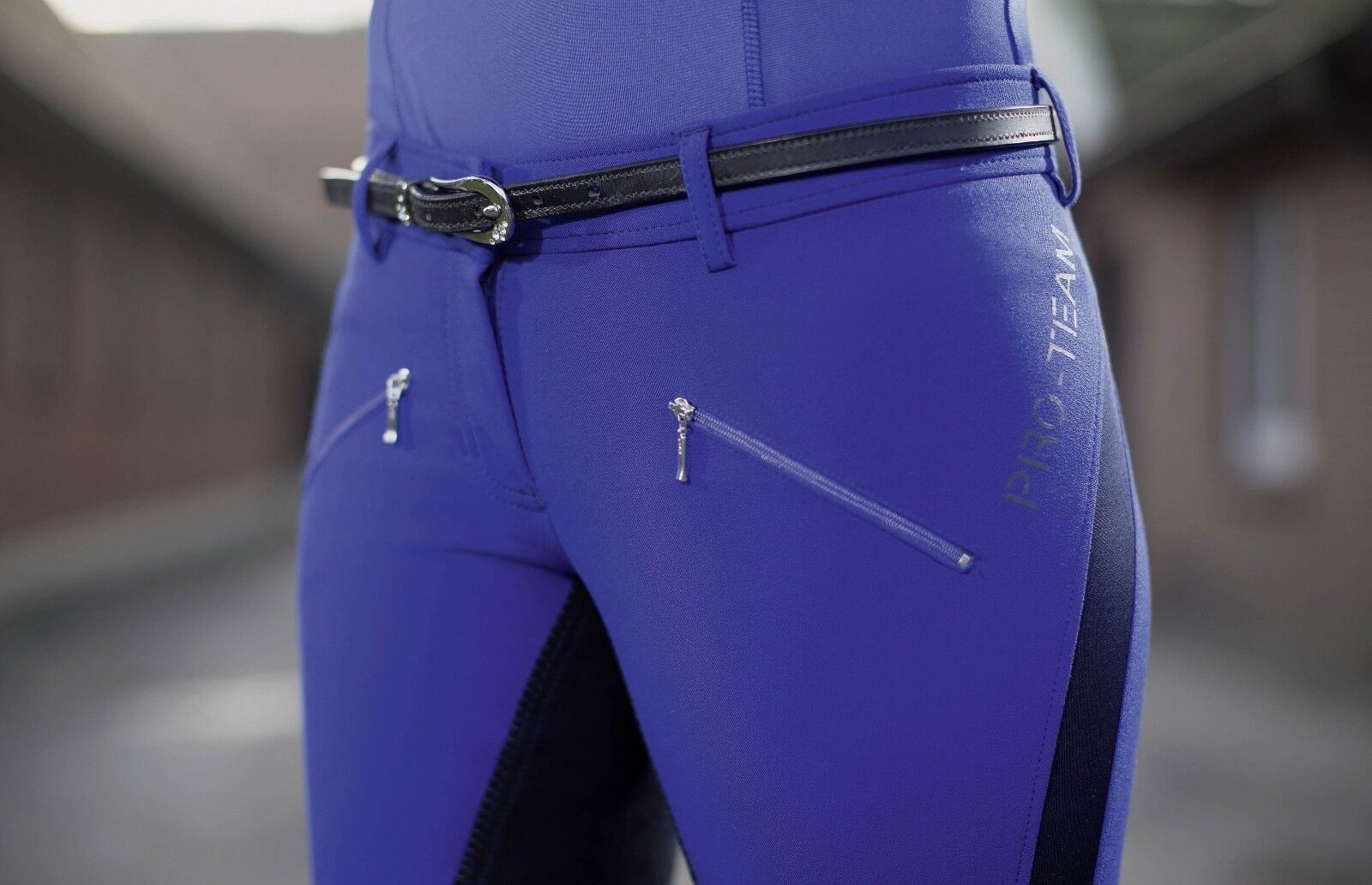 HKM PRO TEAM EQUESTRIAN HORSE RIDING BREECHES -Flash- FULL ALOS SEAT SALE