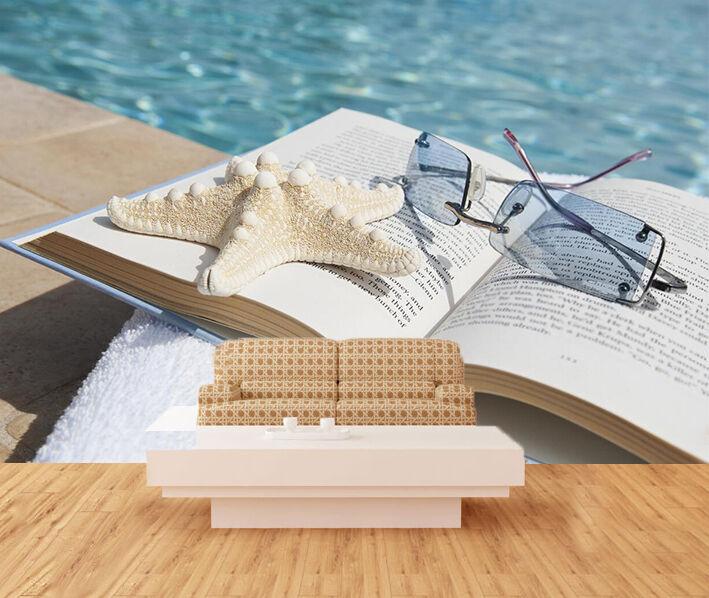 3D Strand Lesung 29 Fototapeten Wandbild Fototapete Bild Tapete Familie Kinder