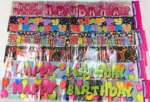 2pcs Foil Happy Birthday Door Banners Party Decorations 90cm 35