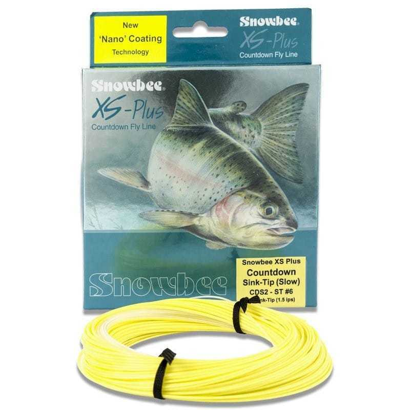 Snowbee XS-Plus Countdown 1.5ips Sink-Tip Fly Line Clear Primpink WFCDS2-7ST
