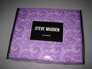 FULL-Steve-Madden-Wrinkle-Resistant-Carlyn-Purple-Microfiber-SHEET-SET