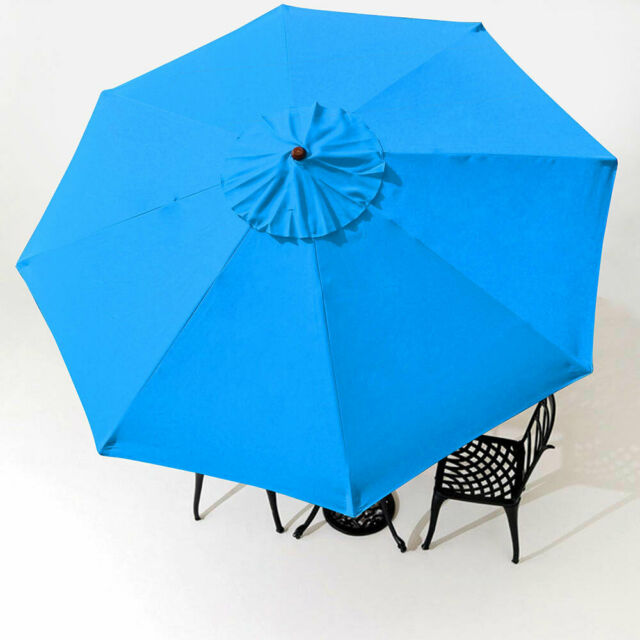 9FT Patio Umbrella Canopy Top Cover Replacement 8 Ribs Market Outdoor Yard