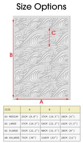 Ola oceánica Muebles de tela de pared de plantilla de Mar Pintura Decoración plantilla reutilizar