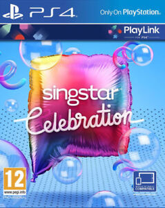 SINGSTAR-Celebrazione-PS4-2-MICROFONI-VIA-CAVO-Menta-1st-Class-consegna