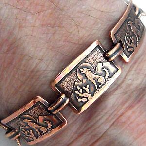 Copper-Bracelet-7-75-Linked-Wheeler-Coyote-Desert-Arthritis-Healing-Folklore-247