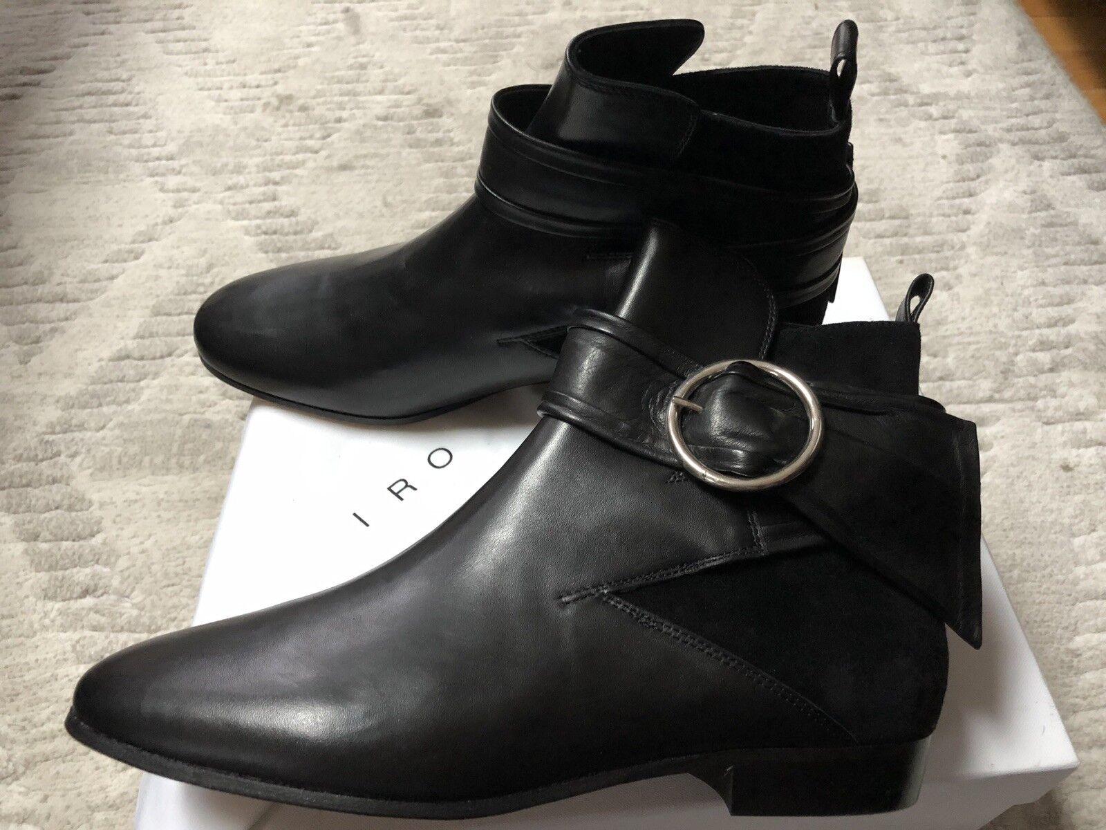 nuovo di marca IRO IRO IRO Sz 40   9 9.5nero Suede Leather scarpe Buckle Ankle stivali  liquidazione fino al 70%