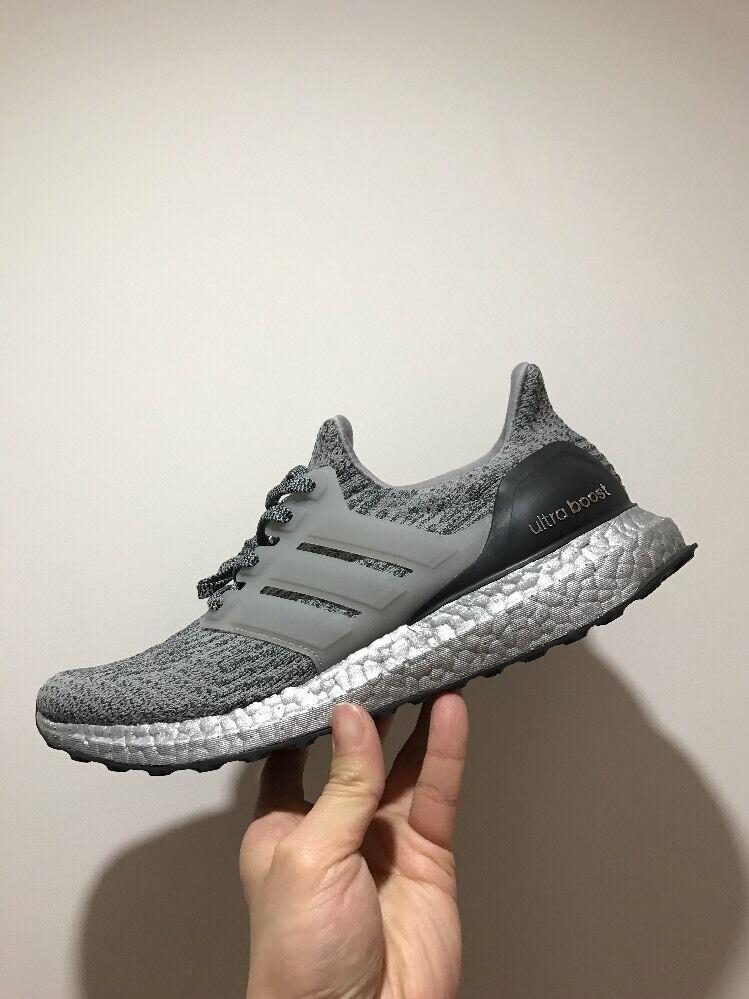 Adidas ultra boost 3.0 Argent ltd UK8 US8.5 EU42 gris argent pack BA8143 men's