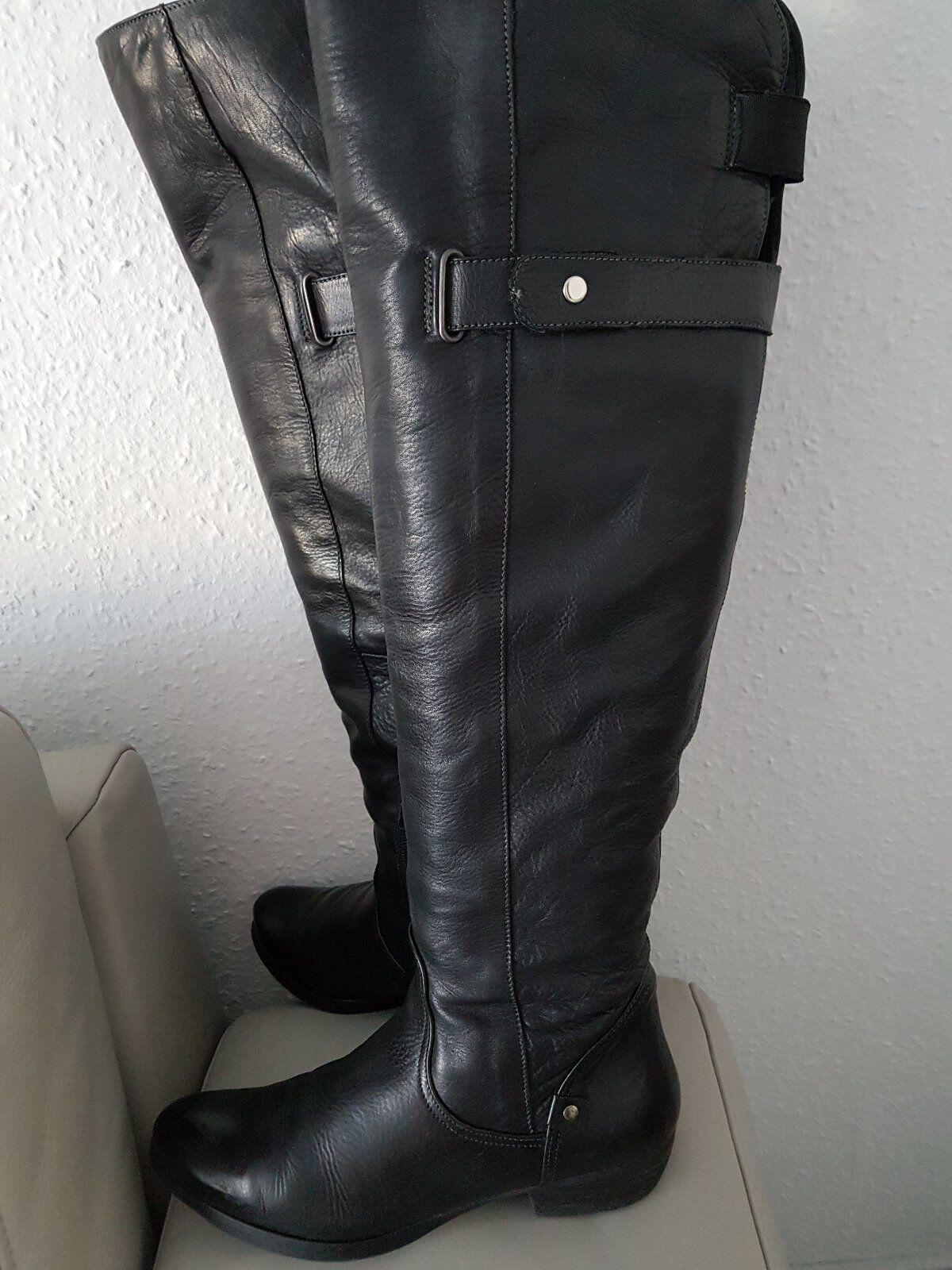 Helén Billkrantz, Stiefel, schwarz Overknees  Leder Leder Leder Gr.37  Bestellen Sie jetzt die niedrigsten Preise