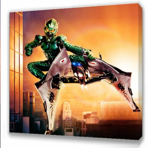Spiderman Green Goblin Canvas 10x10  Framed Picture