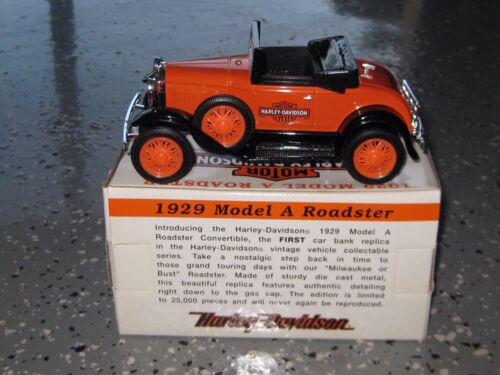"""Harley Davidson Die Cast /""""Model A/"""" Coin Bank /""""Limited Edition/"""""""