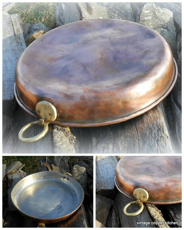 Magnificent French pie meat fish bake copper pan cuivre